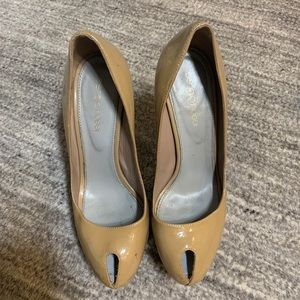 SERGIO ROSSI SIZE 36 1/2 nude Stiletto pumps